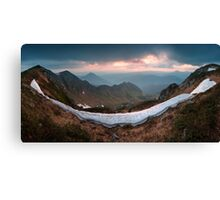 Sunrise in Marmorosy. Carpathians, Ukraine Canvas Print