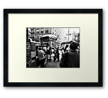 Zombies don't care for Street Pretzels Framed Print