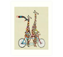 giraffes days lets tandem Art Print