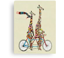 giraffes days lets tandem Canvas Print