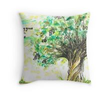 Money  grows on Trees Throw Pillow