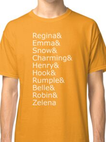Once Upon A Time - Names (White) Classic T-Shirt