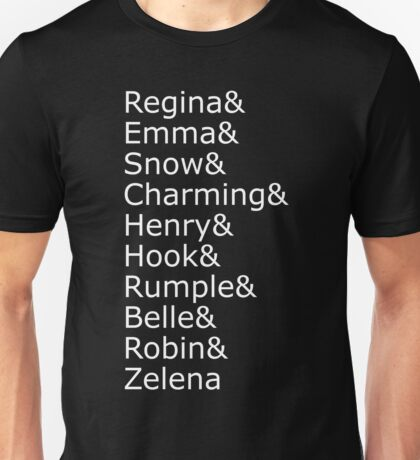 Once Upon A Time - Names (White) Unisex T-Shirt