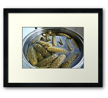 crispy salted cucumbers Framed Print