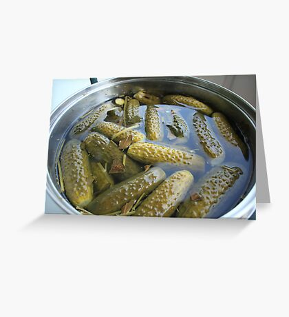 crispy salted cucumbers Greeting Card