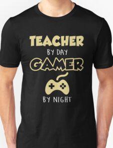Teacher By Day Gamer By Night.  Unisex T-Shirt
