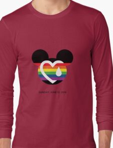 Support for the victims of the horrific shooting at Orlando's Pulse Nightclub.  Long Sleeve T-Shirt