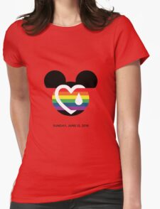 Support for the victims of the horrific shooting at Orlando's Pulse Nightclub.  Womens Fitted T-Shirt