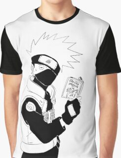 Kakashi with his Book Graphic T-Shirt