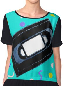 Movie Nights VHS Clothes and Poster Chiffon Top