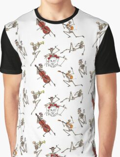 Skeleton Band in Colour!  Graphic T-Shirt