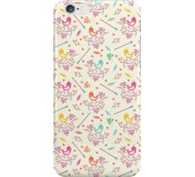 Seamless floral pattern with birds  iPhone Case/Skin