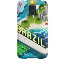 Isometric Infographic of Brazil on Tablet Samsung Galaxy Case/Skin