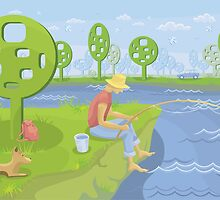 Summer Fishing by VioDeSign