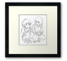 Chihiro and Haku Framed Print