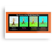 The Seasons of the Doodle Charm Tree Metal Print