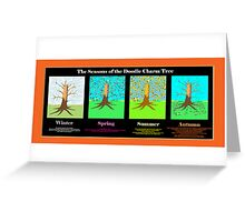 The Seasons of the Doodle Charm Tree Greeting Card
