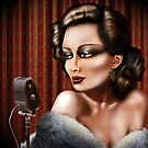 Vintage female singer by Paul Fleet