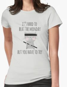 beat the monday /Agat/ Womens Fitted T-Shirt