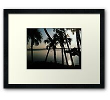 River Road with palms Framed Print
