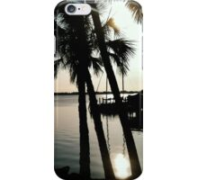 River Road with palms iPhone Case/Skin