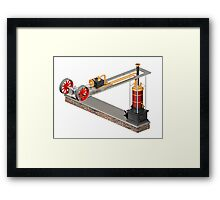Impossible steampunk engine Framed Print