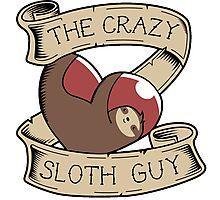 The Crazy Sloth Guy Photographic Print