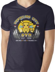 Vermilion City Gym Mens V-Neck T-Shirt