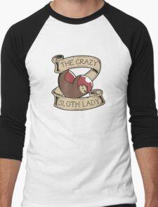 The Crazy Sloth Lady Men's Baseball ¾ T-Shirt