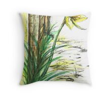 Blooming  Daffodil Throw Pillow