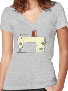 Sewing machine Women's Fitted V-Neck T-Shirt