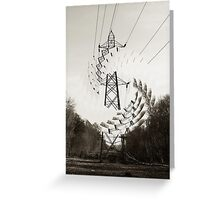 The Lonely Pylons Friend Greeting Card