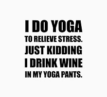 Yoga Pants Wine Women's Fitted Scoop T-Shirt