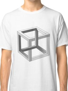 Impossible Cube Optical Illusion  Classic T-Shirt