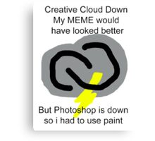 Creative Cloud Down Canvas Print