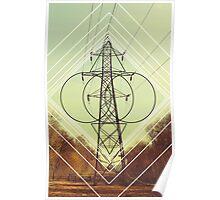 Abstract Pylon Poster