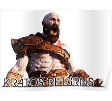 KRATOS RETURNS - NEW GOD OF WAR Poster