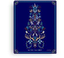 La Vie & La Mort – Navy Canvas Print