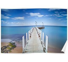 Safety Beach Pier on a beautiful blue sky day on the Mornington Peninsula Poster