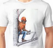 Arborist Tree Surgeon Lumberjack Logger Stihl chainsaw Unisex T-Shirt