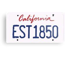 California License Metal Print