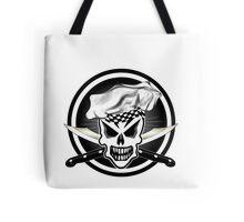 Chef Skull Black 2 Tote Bag