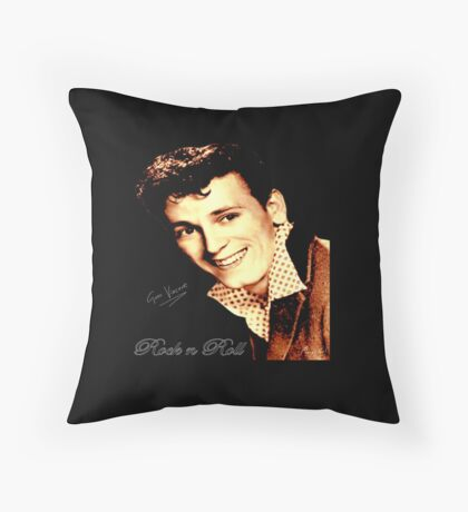 Gene Vincent Throw Pillow
