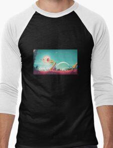 """No Morty's Sky"" Men's Baseball ¾ T-Shirt"