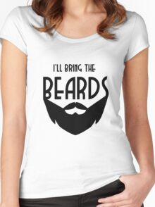 I'll the bring the Beards Women's Fitted Scoop T-Shirt