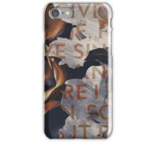 Abstract Paint & Floral Texture Lyrics iPhone Case/Skin