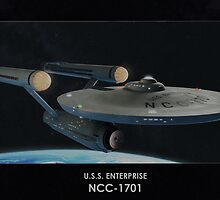 U.S.S. Enterprise NCC-1701 by Nadya Klymenko