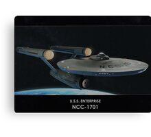 U.S.S. Enterprise NCC-1701 Canvas Print