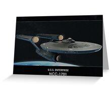 U.S.S. Enterprise NCC-1701 Greeting Card
