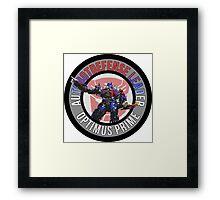 Optimus Prime Autobot Leader Framed Print